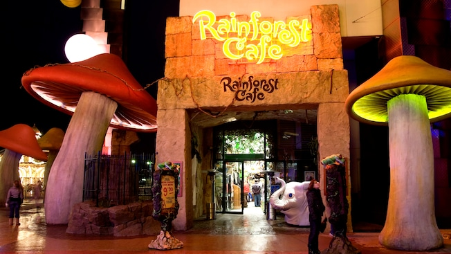 Menu Rainforest Cafe Disneyland Paris
